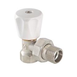 Клапан ручной VALTEC (компактный) для радиатора, угловой 1/2 (8/120)