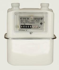 Счётчик газа СГБ G-4 Сигнал с вертикальным подключением