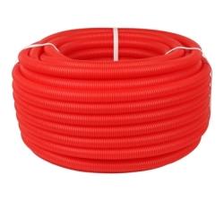 Труба гофрированная ПНД STOUT цвет красный