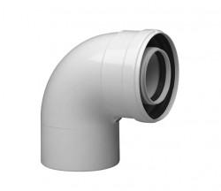 Колено коаксиальное алюминиевое 90 гр. 60/100 CС-16-90 SAMRISE